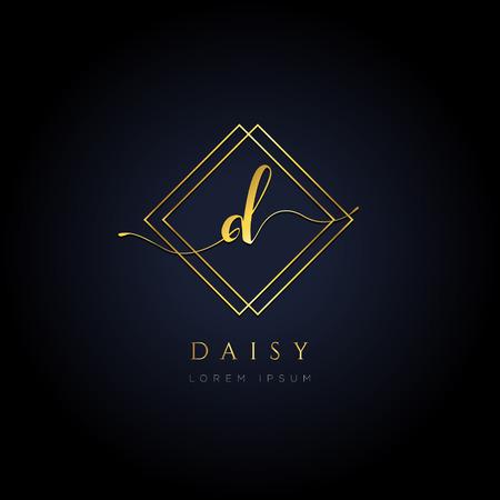 Simple Elegance Initial Letter D Logo Type Sign Symbol Icon 矢量图像