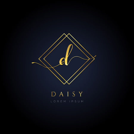 Simple Elegance Initial Letter D Logo Type Sign Symbol Icon Illustration