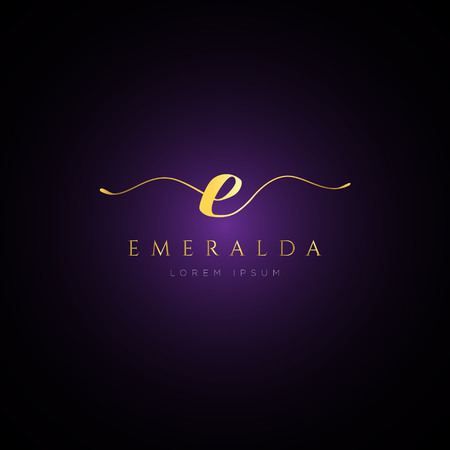 Simple Elegance Initial Letter E Logo Type Sign Symbol Icon