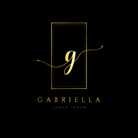 Simple Elegance Initial Letter G Logo Type Sign Symbol Icon