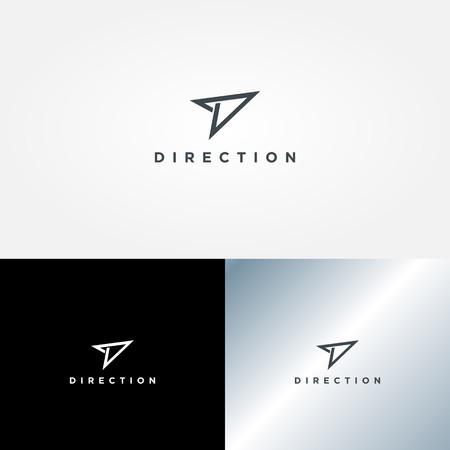 Simpel Clean Direction Logo Sign Symbol Icon