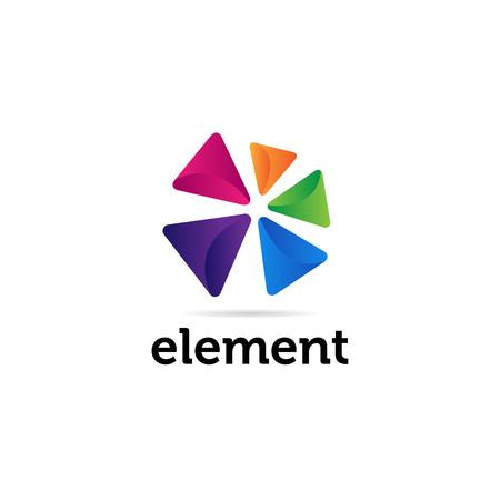 Abstracte kleurrijke driehoekige vormen Logo teken symboolpictogram Logo