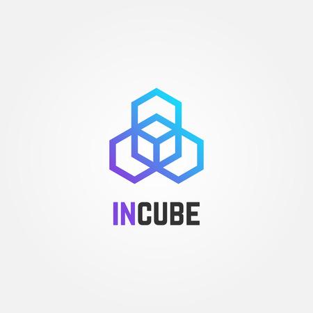 Abstract Creative Cube Box Logo Sign Symbol Icon