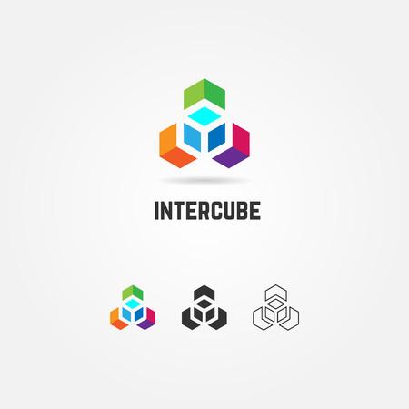 Abstract Colorful Box Cube Logo Sign Symbol Icon Illustration
