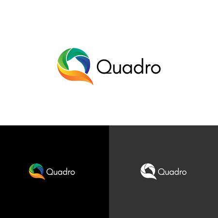 Colorful Abstract Q Logo Sign Symbol Icon Illustration
