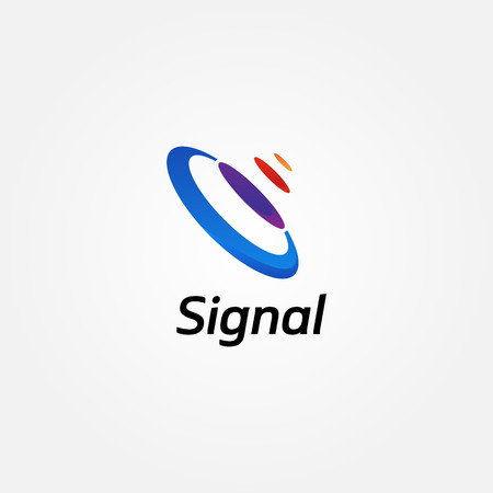 Abstract Colorful Signal Logo Sign Symbol Icon Illustration