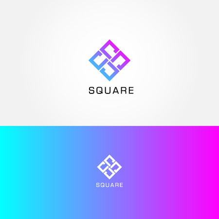 Abstract Simple Square Logo Sign Symbol Icon