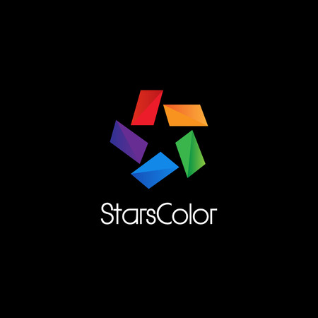 Abstract Colorful Star Logo Sign Symbol Icon Illustration