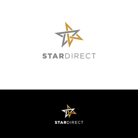 Simple Clean Star Direction Logo Sign Symbol Icon
