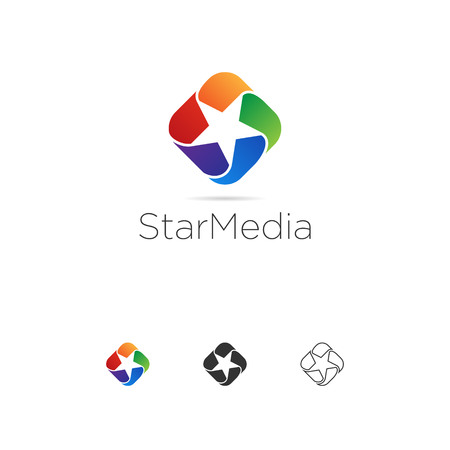 Abstract Colorful Star Looping Logo Template