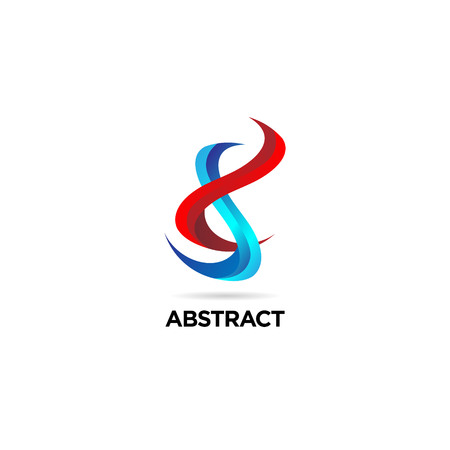 Abstract Colorful Helix DNA Logo Sign Symbol Icon