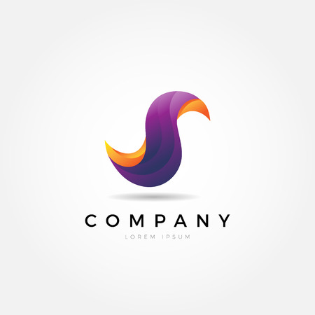 Abstract Colorful Dynamic Fluid Letter S Logo Sign Symbol Icon