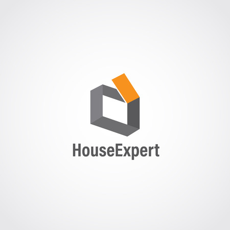 Abstract Simple Clean House Logo Sign Symbol Icon