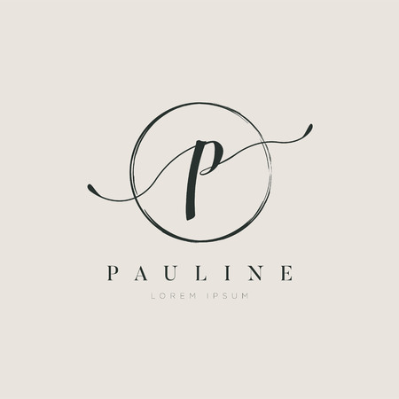 Simple Elegant Initial Letter Type P Logo Design