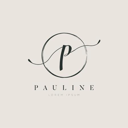 Simple Elegant Initial Letter Type P Logo Design