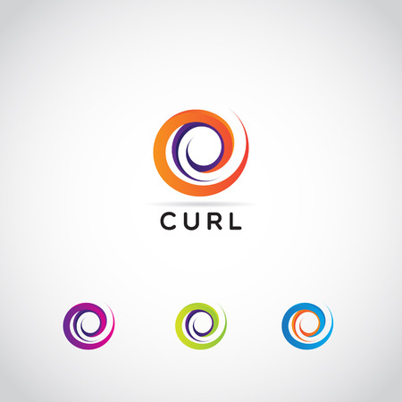 Abstract Colorful Swirl Shape Logo Sign Symbol Icon