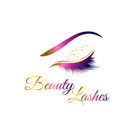 Beauty Cosmetic Eye Lashes Logo Symbol Icon 矢量图像