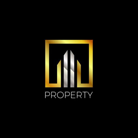 Square Gold-Silver Property Logo
