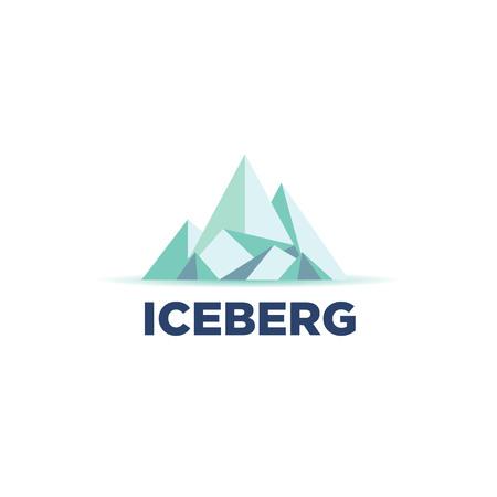 Cool Iceberg Logo Symbol Ilustração