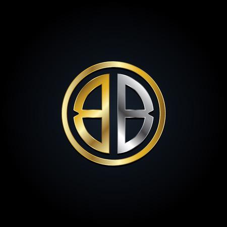 Elegant Silver Gold BB Later Logo Symbol Icon Archivio Fotografico - 125123589