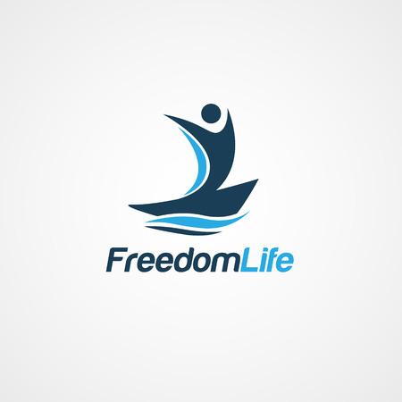 Freedom Life People Logo Symbol  イラスト・ベクター素材