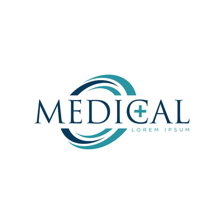 Icono de símbolo de diseño de logotipo médico