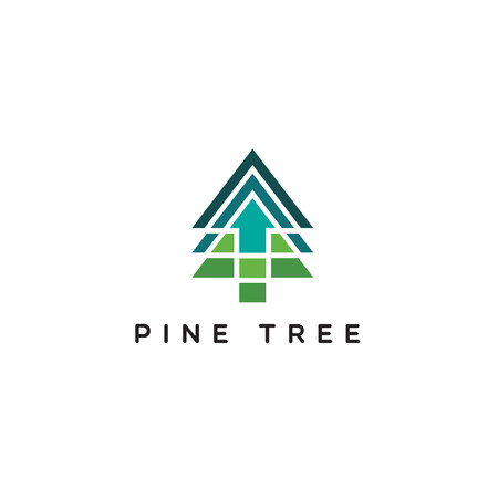 Pine Logo With Up Arrow