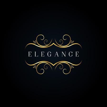 Logo d'ornement d'élégance d'or