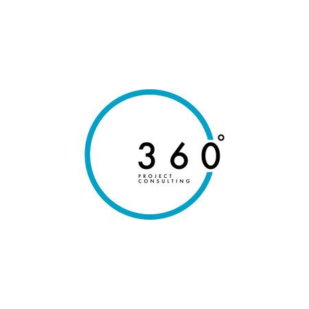 Minimalist 360 Degree Logo Design
