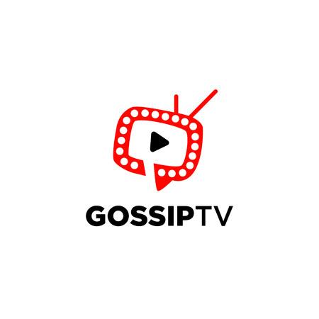 Gossip Infotainment Channel TV Logo Symbol Icon Illustration