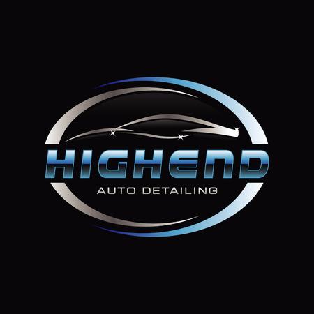 Symbole de logo de détail automatique de voiture Logo