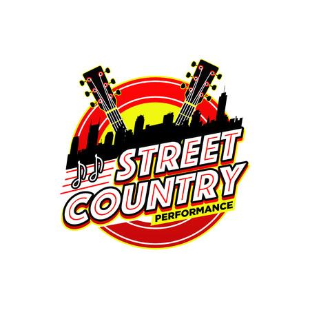 Street Country Music Performance Logo Symbol Badge