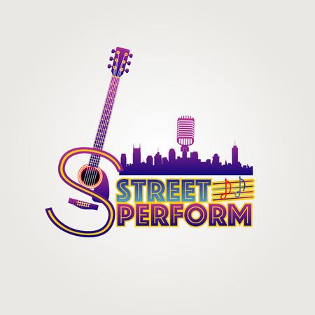 Símbolo del logotipo de Neon Style Street Perform