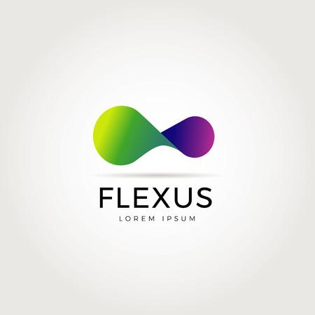 Abstraktes flexibles Logo-Symbol-Symbol