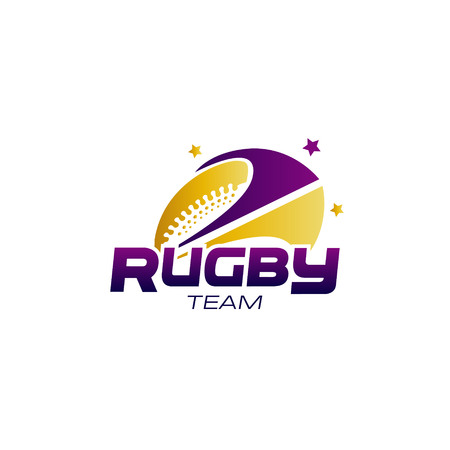 Abstract Rugby Team Logo Symbol Concept Stock Illustratie