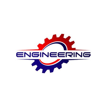 Engineering Gear Logo Design Symbol