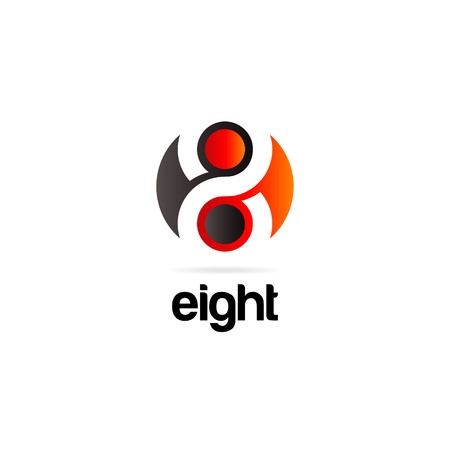 Abstract Eight Logo Symbol Icon