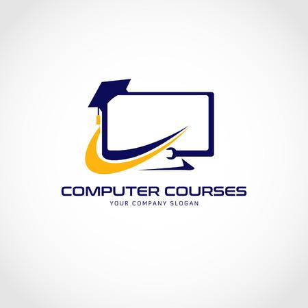 Icono de símbolo de signo de logotipo de cursos de computadora