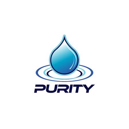 Purity Drop Logo Design Symbol