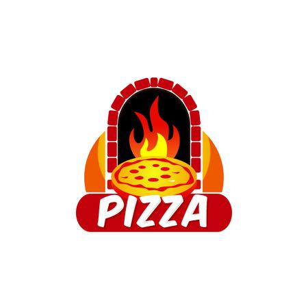 Pizza Hot Logo Design Symbol Logo