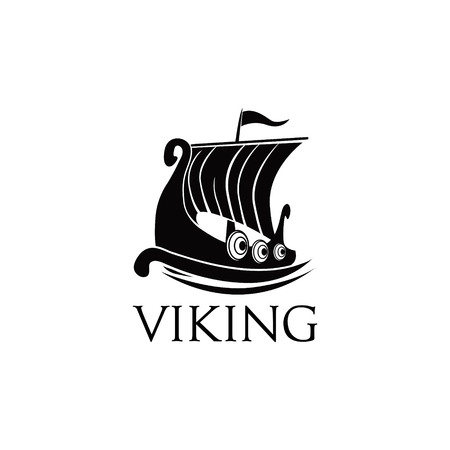Viking Ship Logo Symbol Illustration Illustration