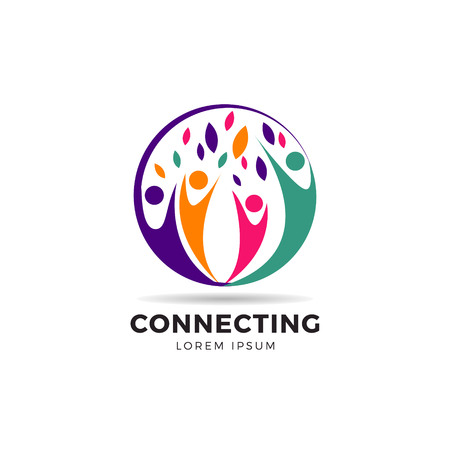Circle Colorful Community Logo Symbol