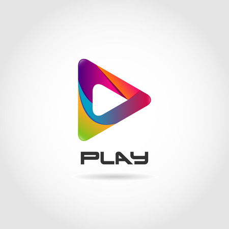 Colorful Play Logo Sign Symbol Icon