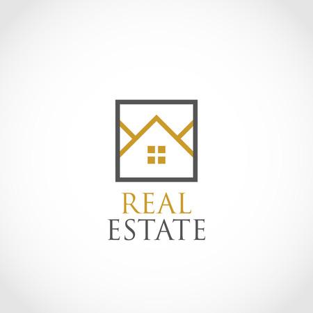 Símbolo simple del logotipo de bienes raíces