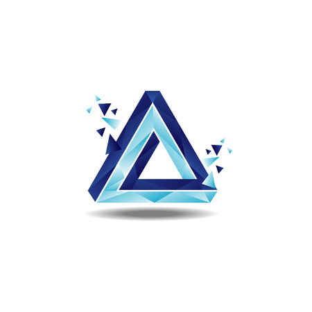 Triangle Penrose Loop Logo Sign Symbol Icon Logo
