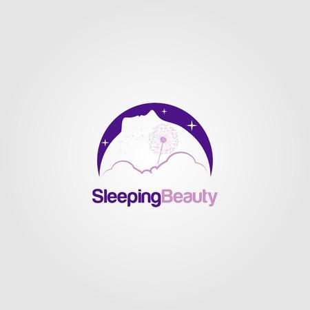 Sleeping Beauty Dream Logo Sign Symbol Icon Ilustração