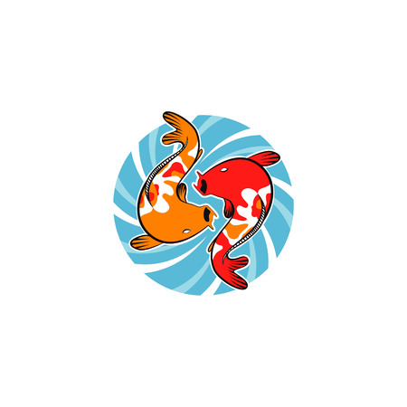 Koi Whirlpool Logo Illustration