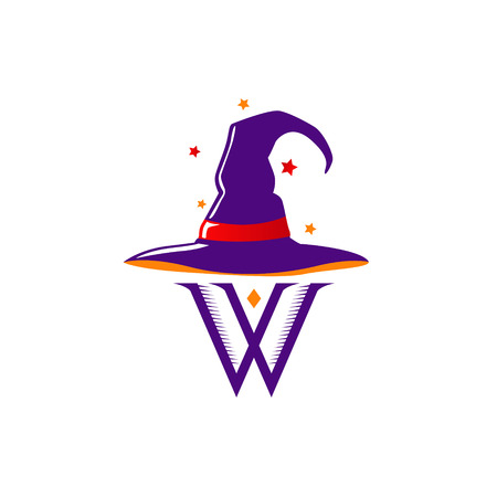 Wizard Hat Logo Sign Symbol Icon Vettoriali