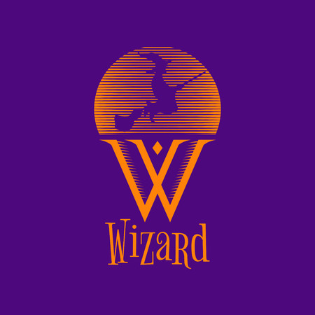 Wizard Witch Logo Sign Symbol Icon