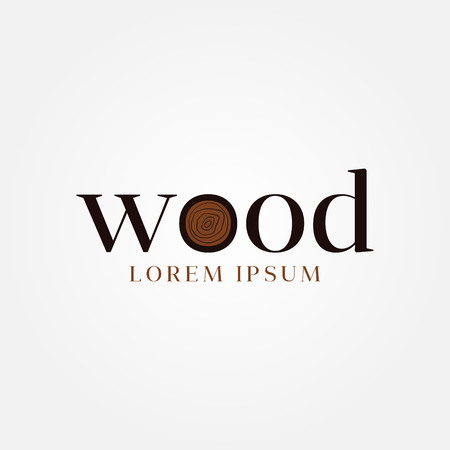 Wood Letter Type Logo Sign Symbol Icon